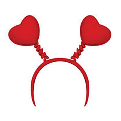 Diadem Rött med Hjärtan