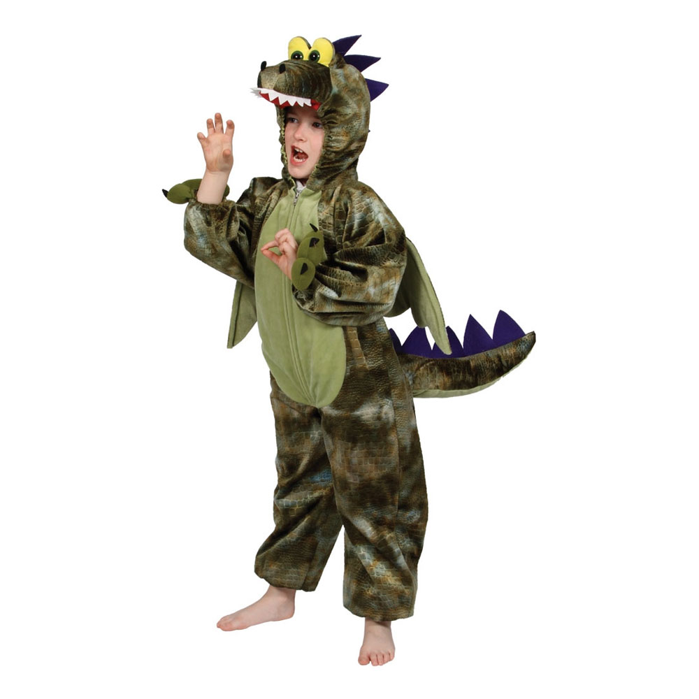 Dinosaurie Barn Maskeraddräkt - X-Large