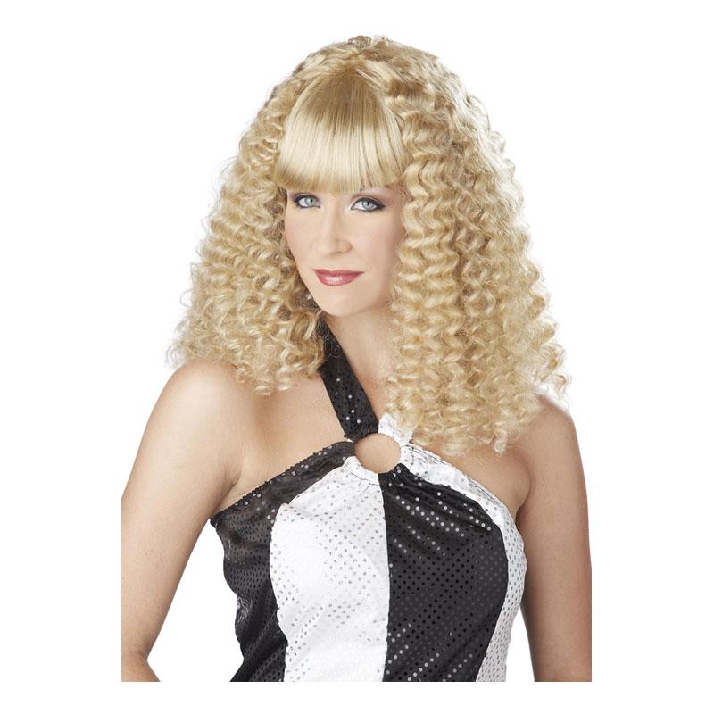 Discodam Blond Peruk - One size