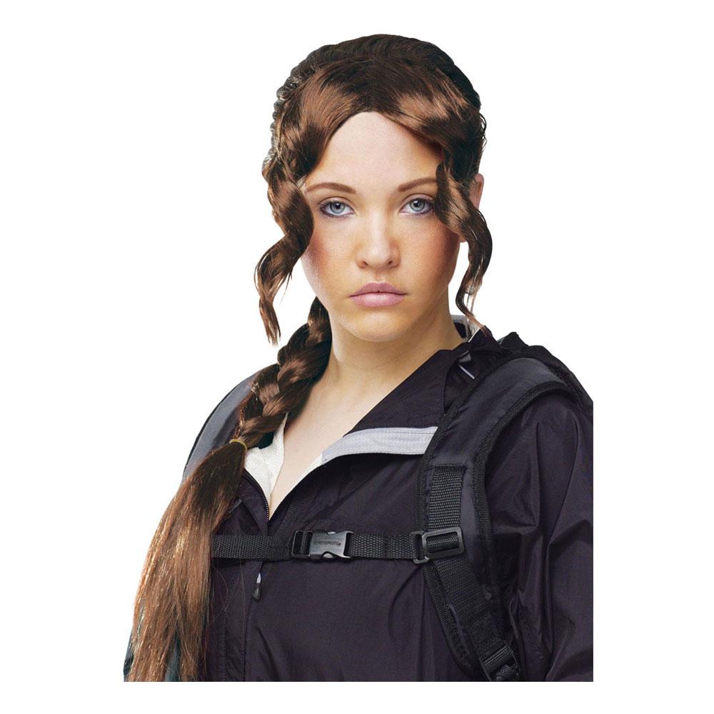 District Girl Brun Peruk - One size