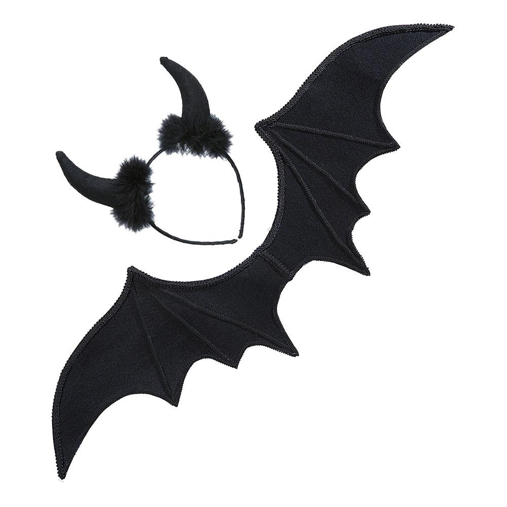 Djävul Svart Tillbehörskit - One size
