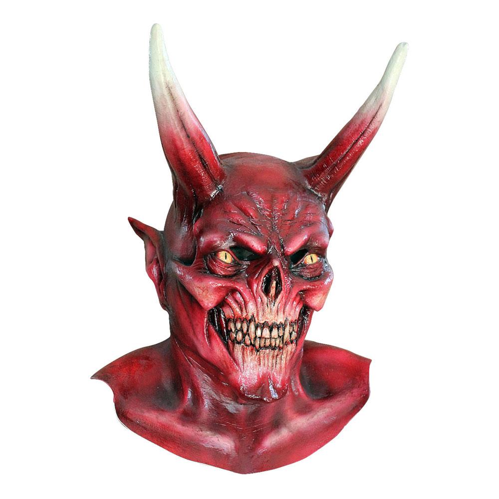 Djävul Mask med Horn - One size