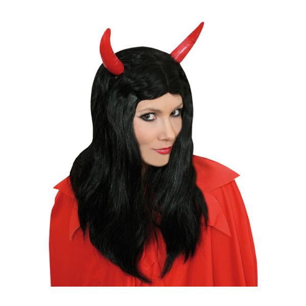 Djävulsperuk med Horn - One size