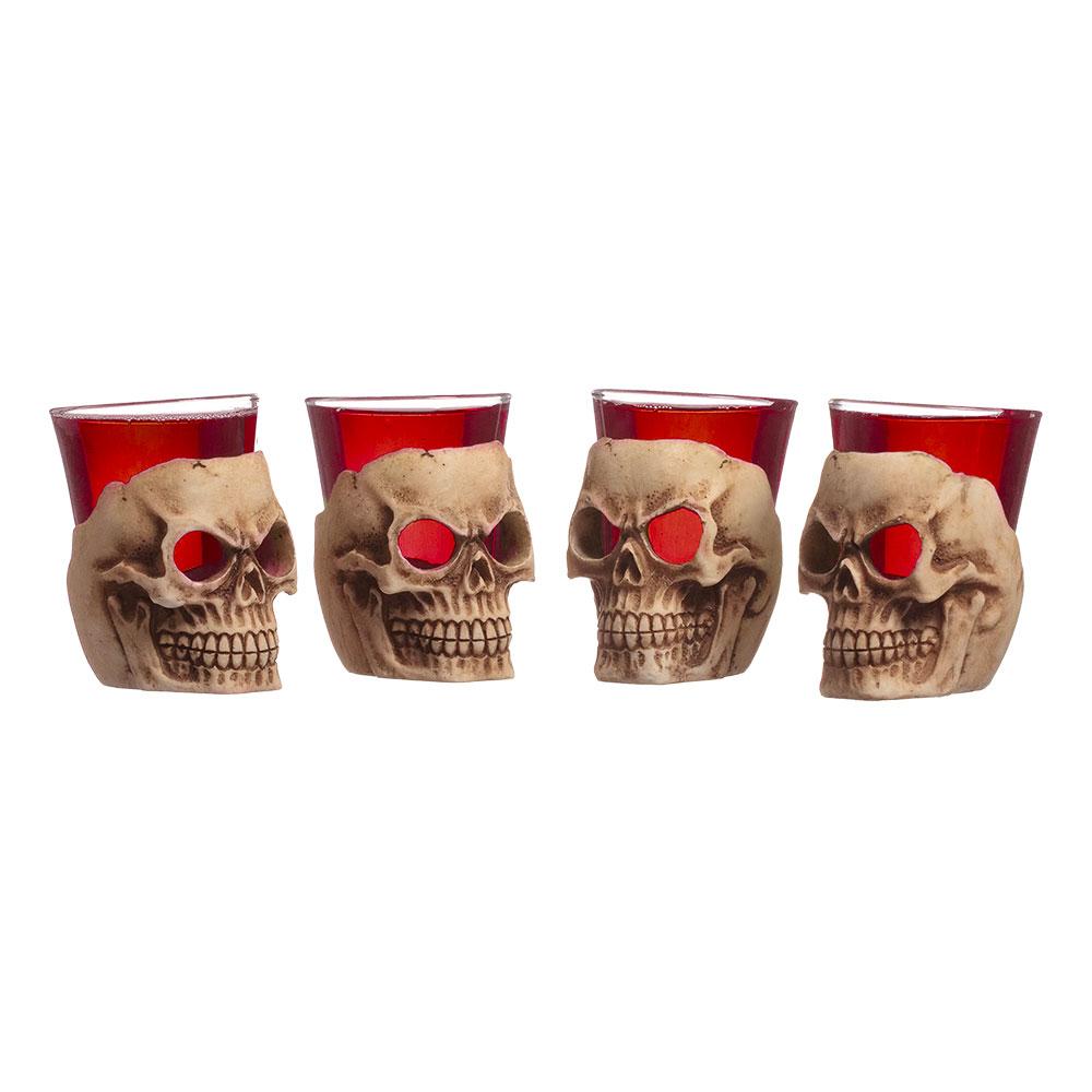Dödskalle Shotglas - 4-pack