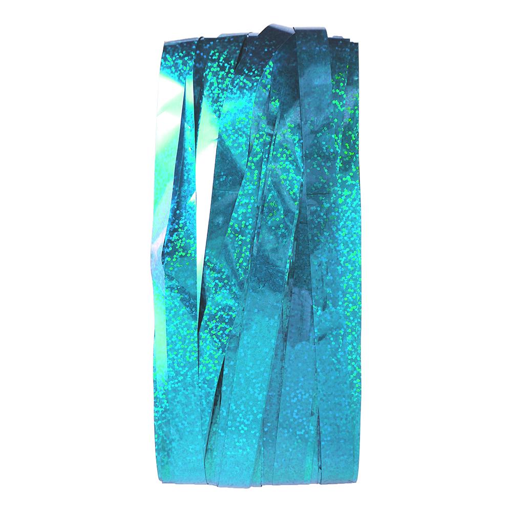 Dörrdraperi Folie Holografisk Blå