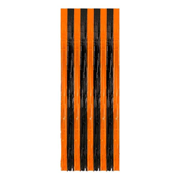 Dörrdraperi Halloween Svart/Orange