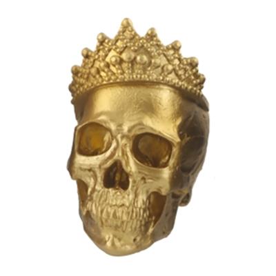 Döskalle med Krona - Guld