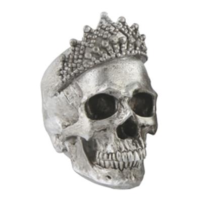 Döskalle med Krona - Silver
