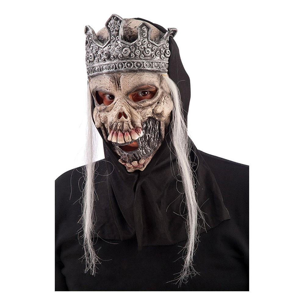 Döskalle med Krona Latexmask - One size