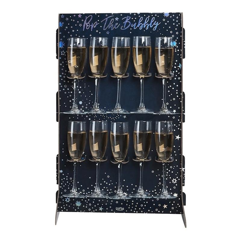 Drinkvägg för Champagneglas
