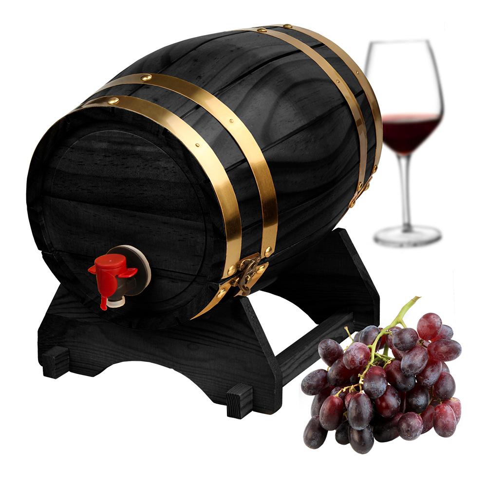 Trätunna för Vin Svart - 5 liter