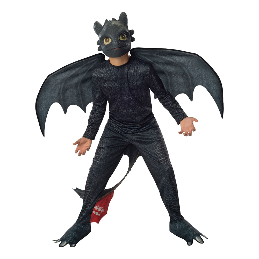 DT2 Toothless Night Fury Barn Maskeraddräkt - Medium