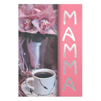 Dubbelkort Mini Rosa Bukett Mamma