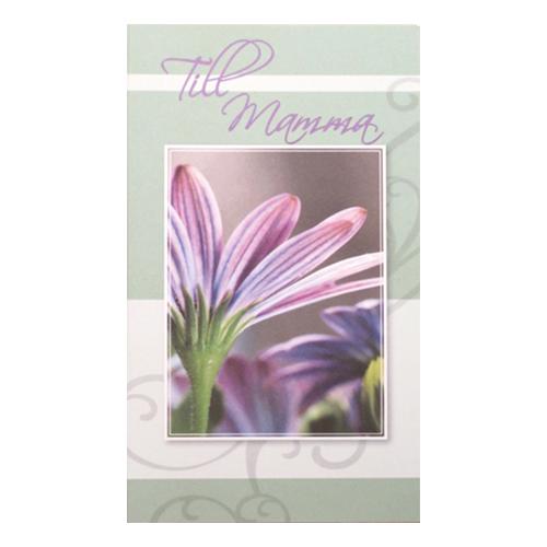 Dubbelkort Till Mamma Lila Blomma