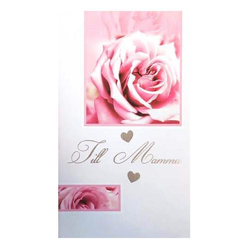 Dubbelkort Till Mamma Rosa Ros