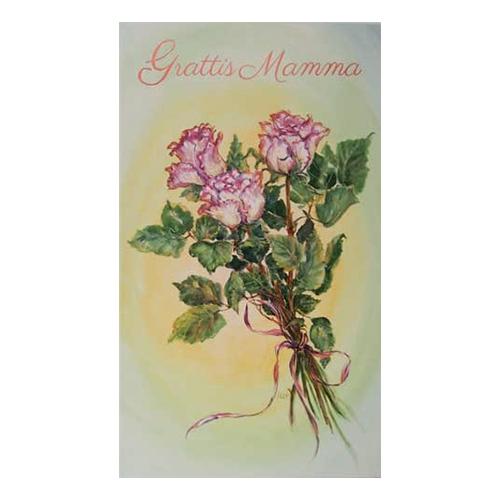 Dubbelkort Till Mamma Rosa Rosor