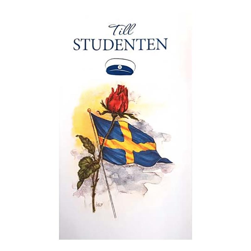 Dubbelkort Till Studenten Svensk Flagga