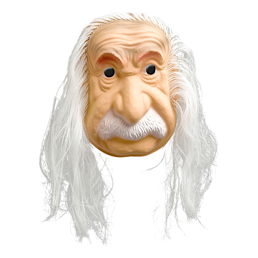Einstein Mask med Hår - One size