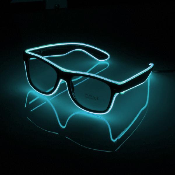 El Wire LED Glasögon - Turkos
