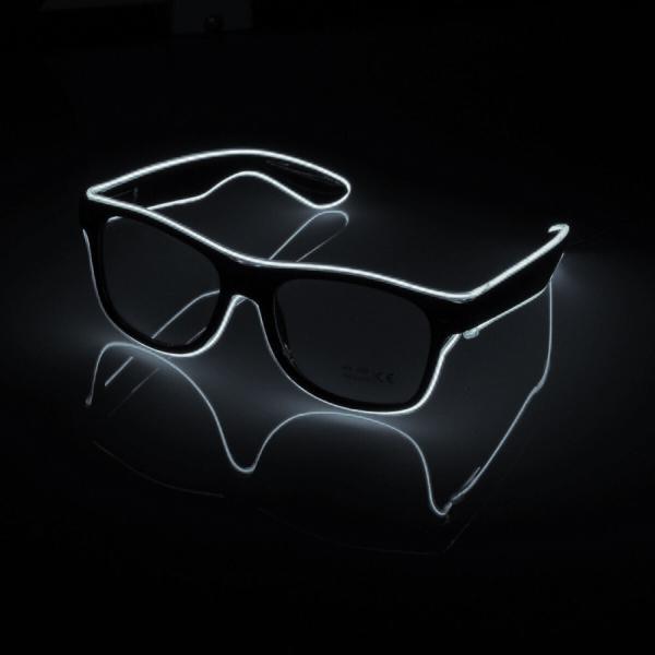 El Wire LED Glasögon - Vit