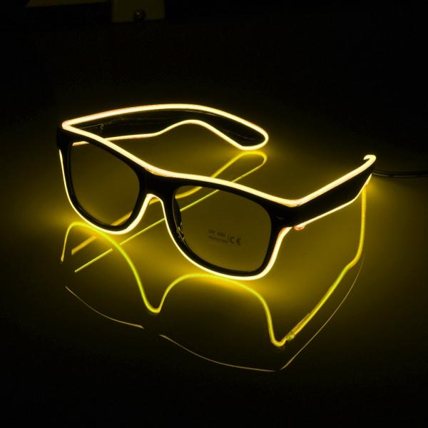 El Wire LED Glasögon - Gul