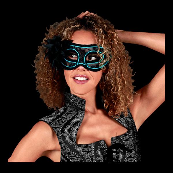 EL Wire Venetiansk Mask Blå