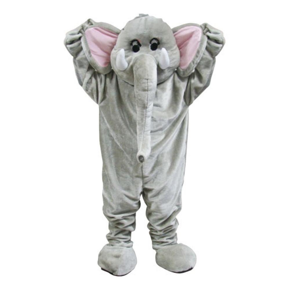 Elefantmaskot Deluxe Maskeraddräkt - One size