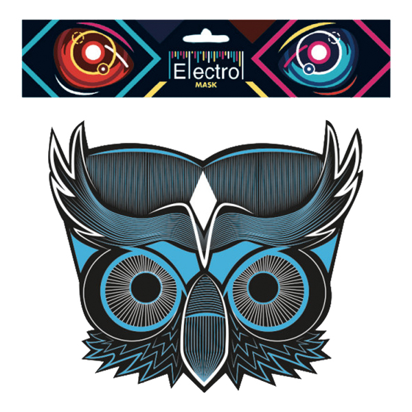 Elektronisk Mask Uggla - One size