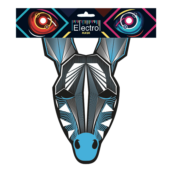 Elektronisk Mask Zebra - One size