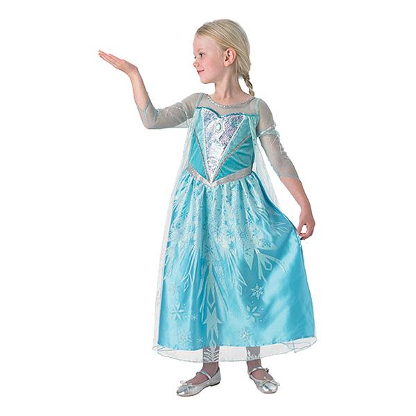 Elsa Deluxe Barn Maskeraddräkt - Small