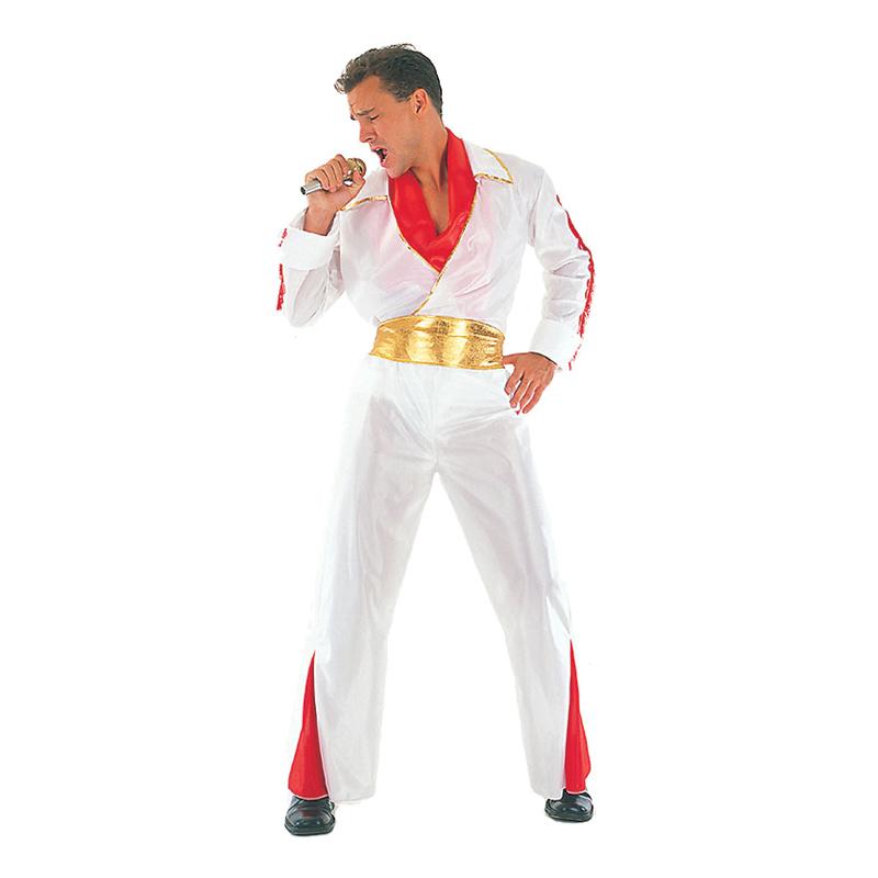 Elvis med Guldbälte Maskeraddräkt - One size