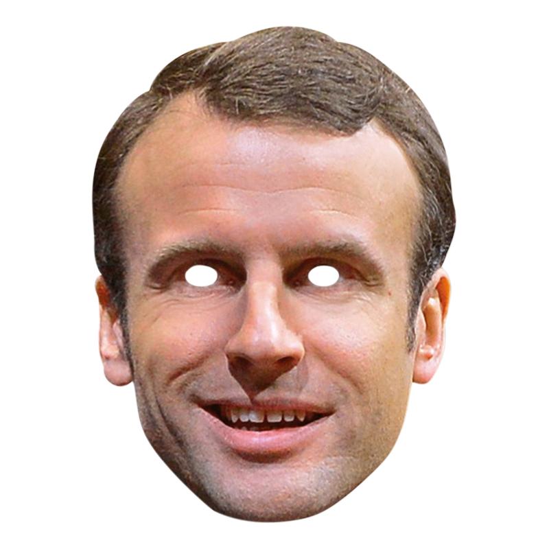Emmanuel Macron Pappmask