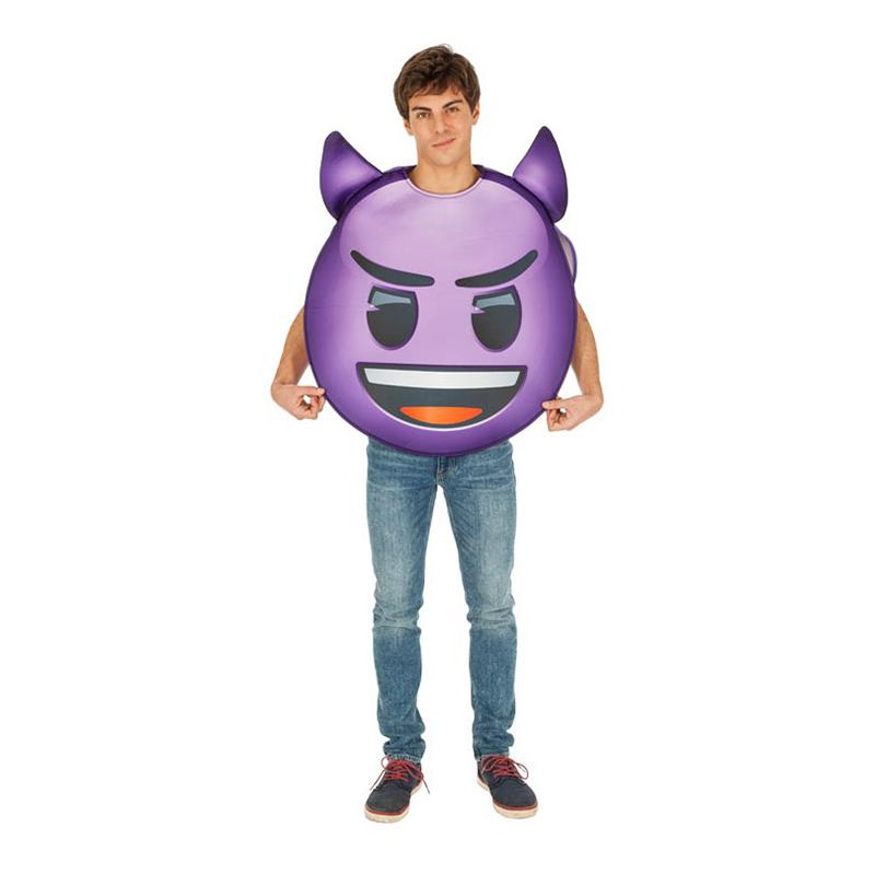 Emoji Djävul Maskeraddräkt - One size