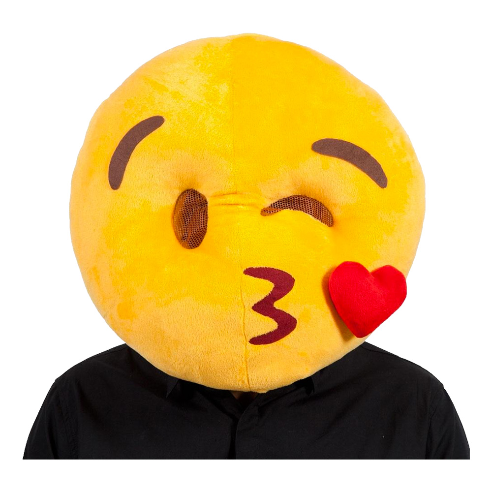 Emoji Kissing Face Mask - One size