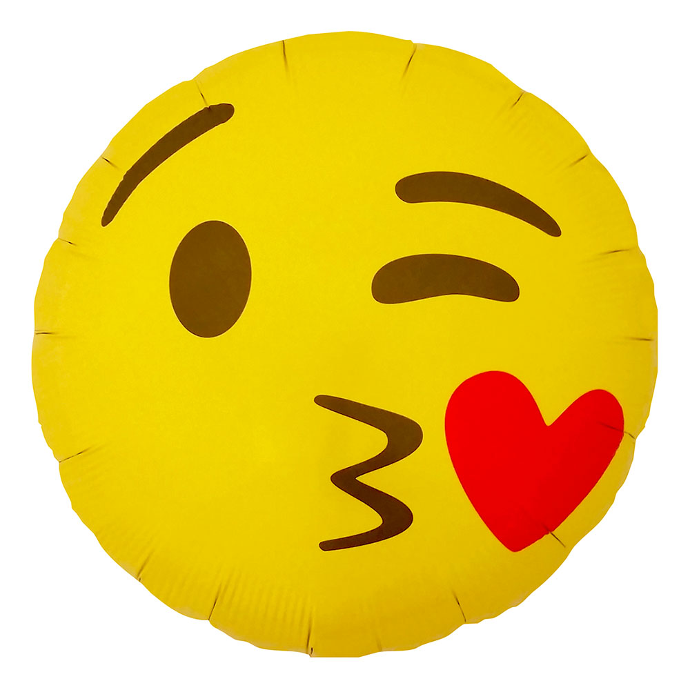 Emoji Kissing Heart Folieballong