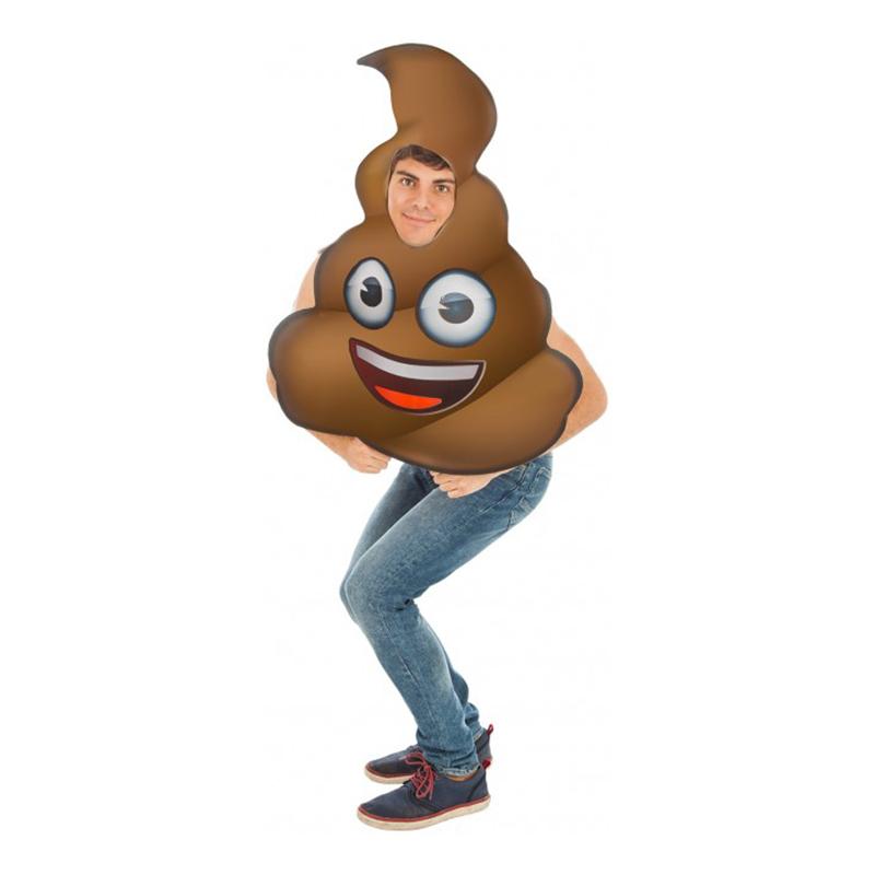 Emoji Poop Maskeraddräkt - One size