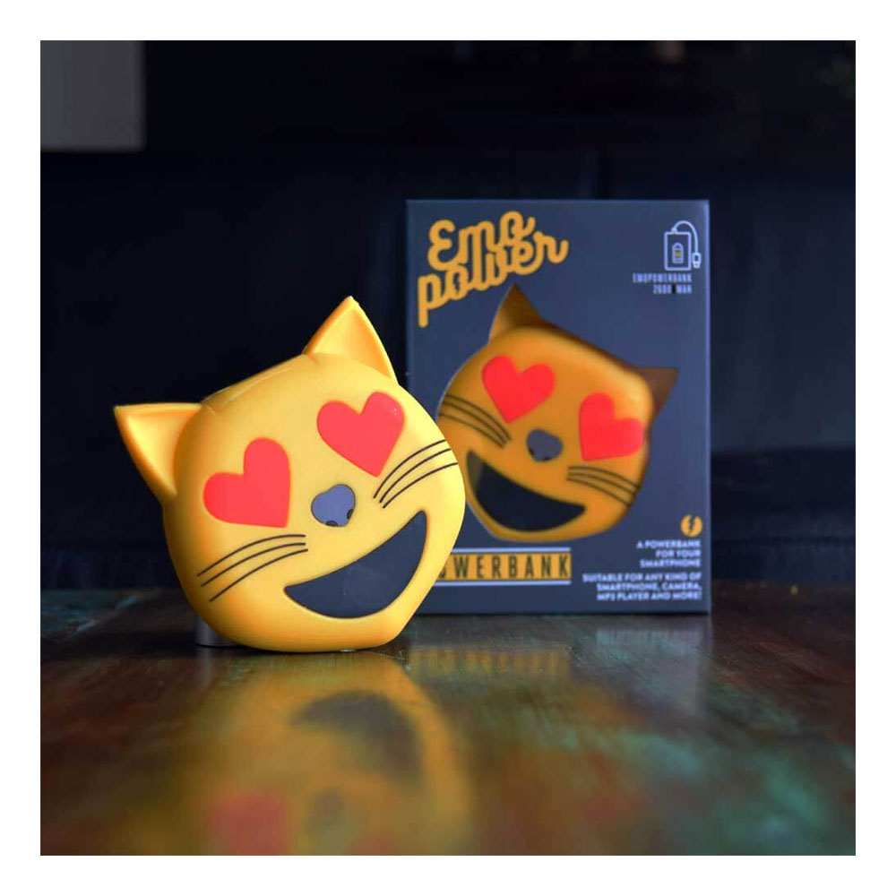 Emoji Powerbank Hearteyes Katt - Heart Eyes Cat