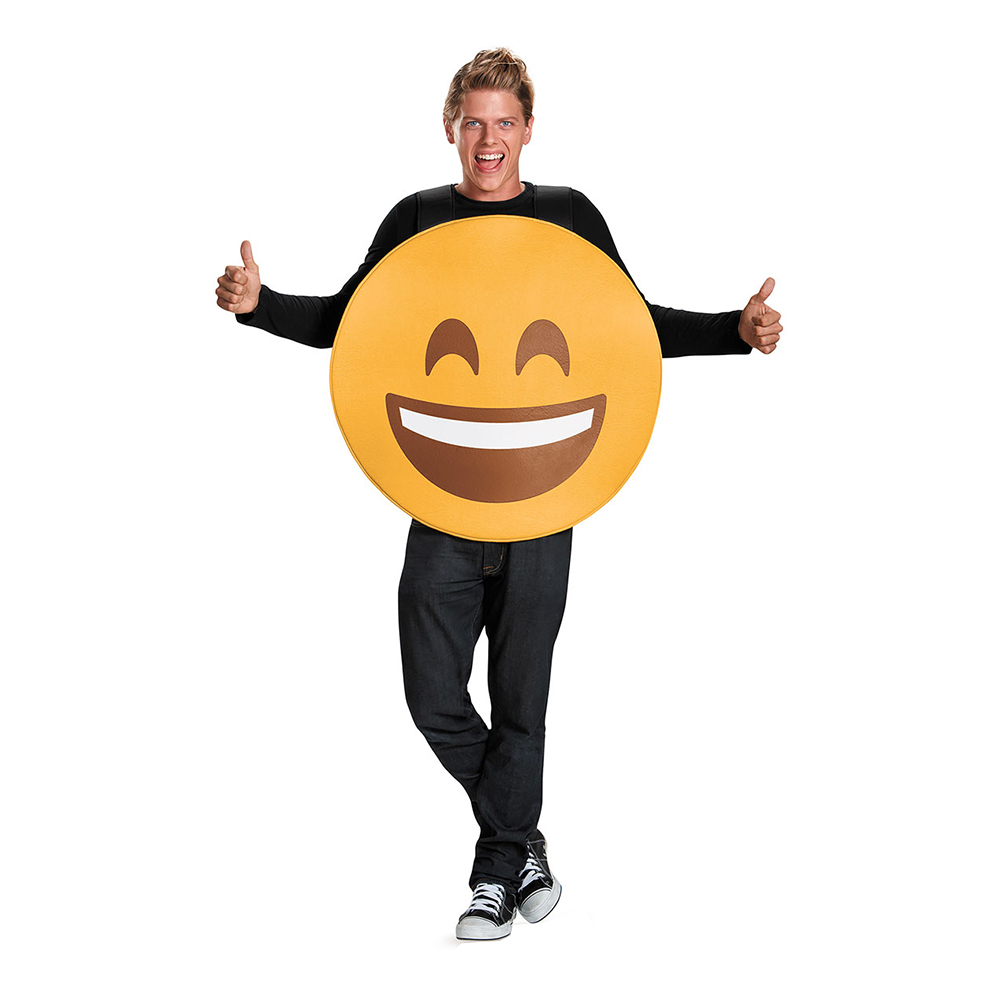 Emoji Smile Maskeraddräkt - Medium