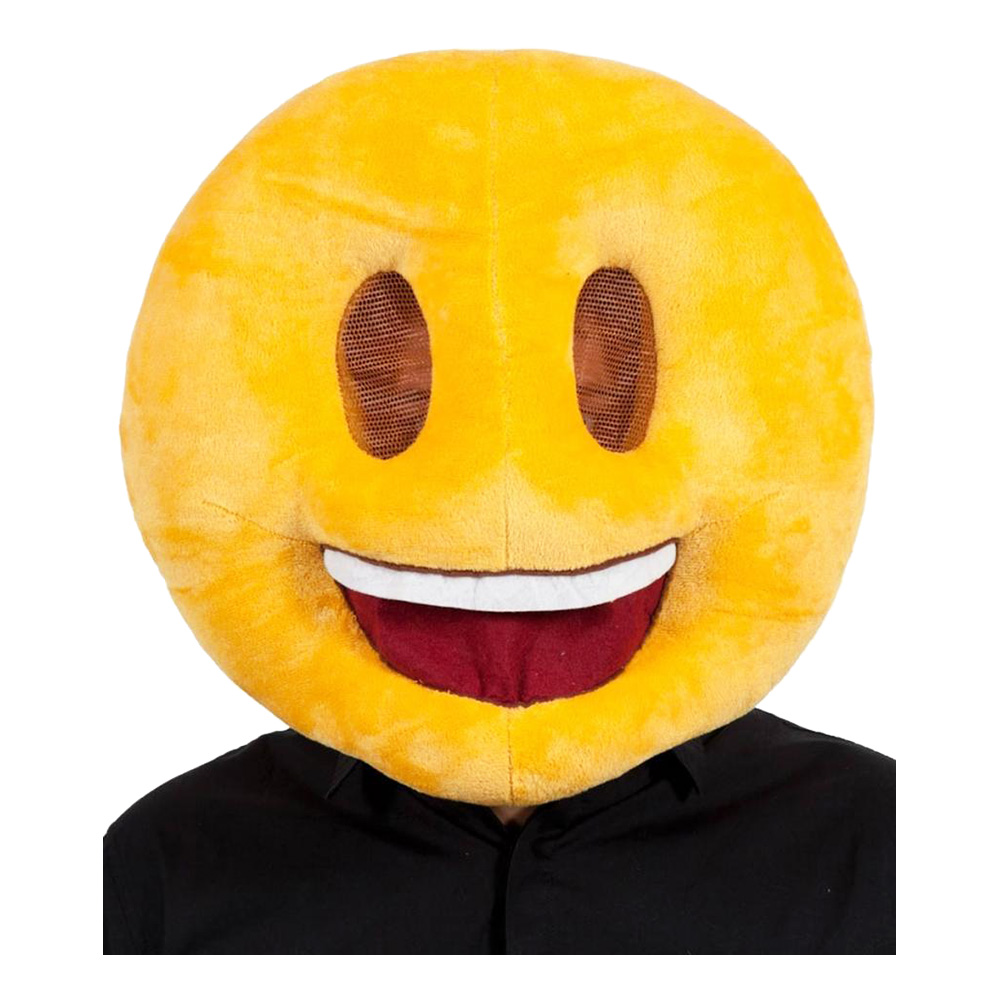 Emoji Smiling Face Mask - One size