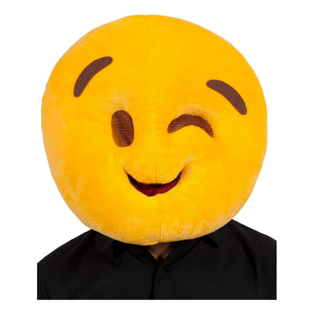 Emoji Wink Face Mask - One size