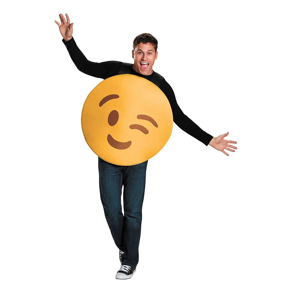 Emoji Blinkning - Maskeraddräkt (medium)