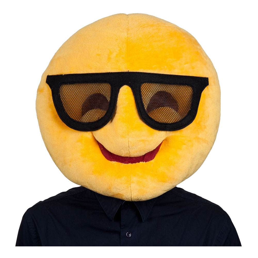 Emoji Sunglasses Mask - One size