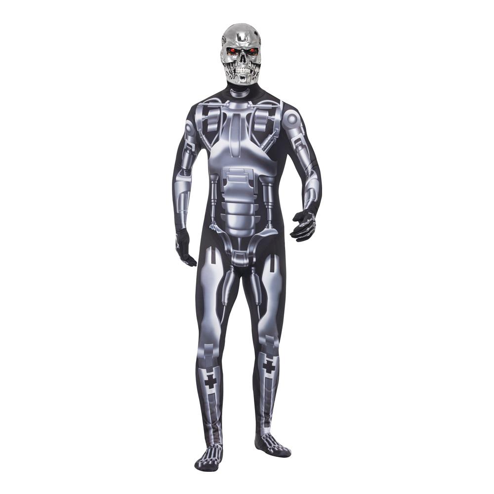 Endoskelett Robot Maskeraddräkt - Medium
