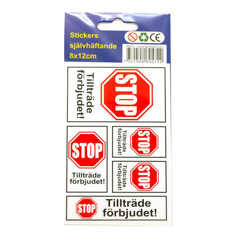 Stickers Tillträde Förbjudet