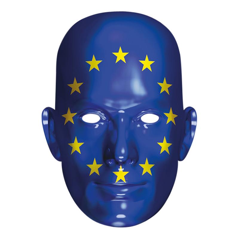 Europas Flagga Pappmask