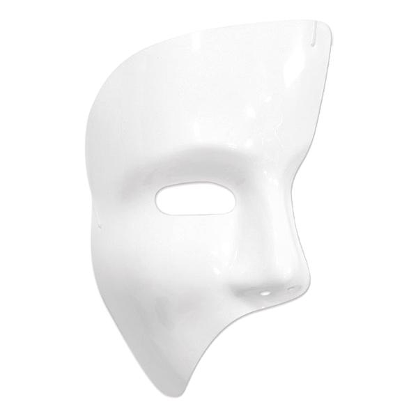 Fantommask Vit i Plast - One size