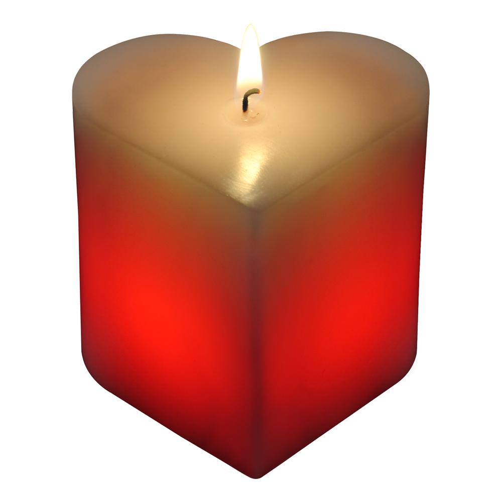 Färgskiftande Hjärtformat Ljus