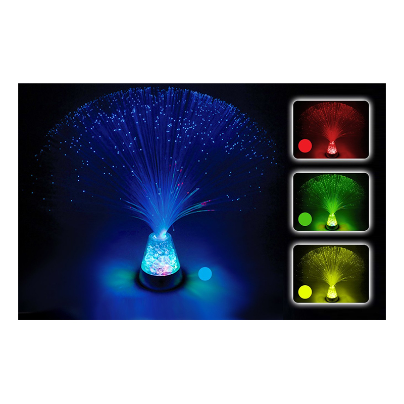 Fiberoptisk Iskristall Lampa