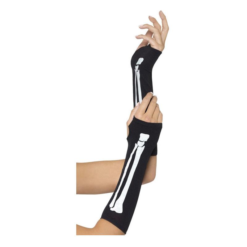 Fingerlösa Skeletthandskar - One size
