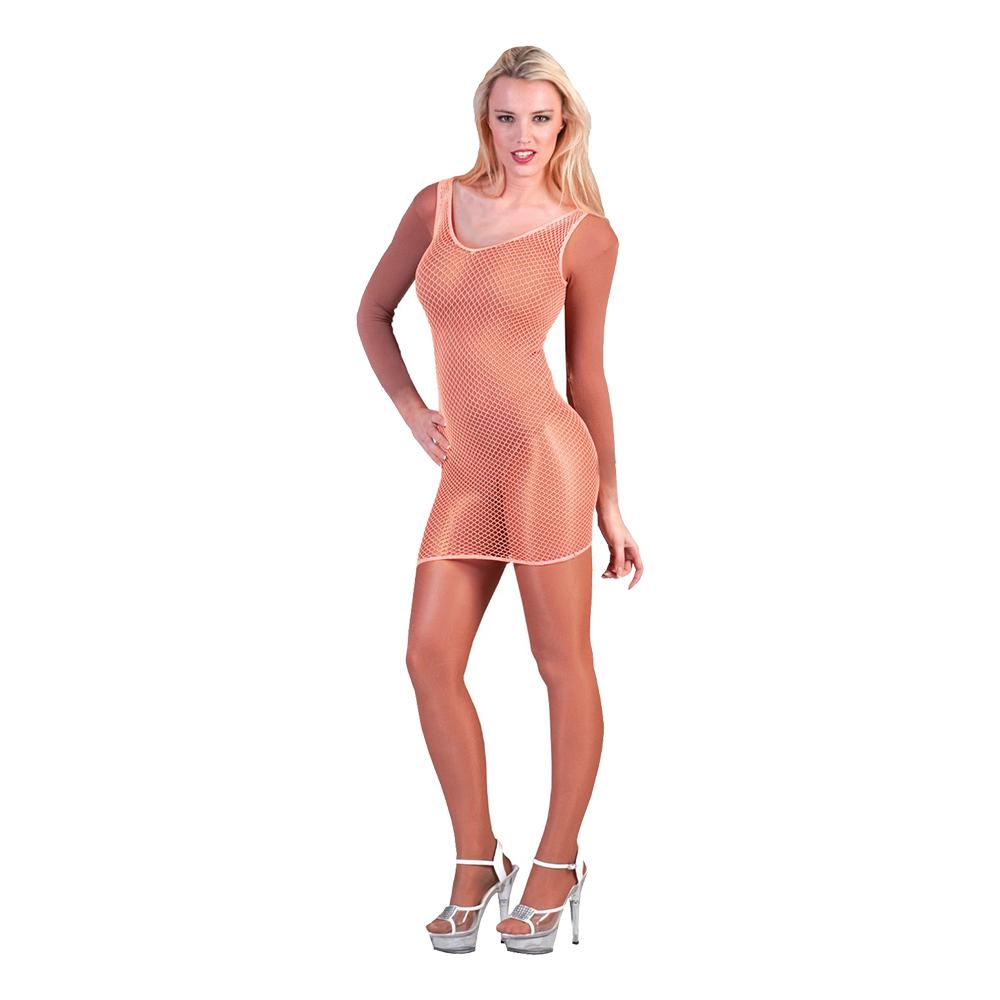 Fisknätsklänning Orange - One size